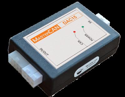 Цифро-аналоговый конвертер MasterCAN DAC15. Преобразование данных бортовой шины CAN в аналоговые сигналы